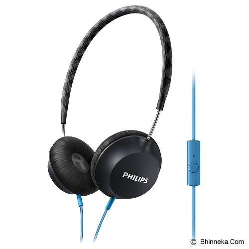 PHILIPS Lightweight Headphone with microphone [SHL 5105 BK] - Black - Headphone Portable